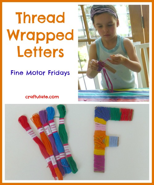 Thread Wrapped Letters