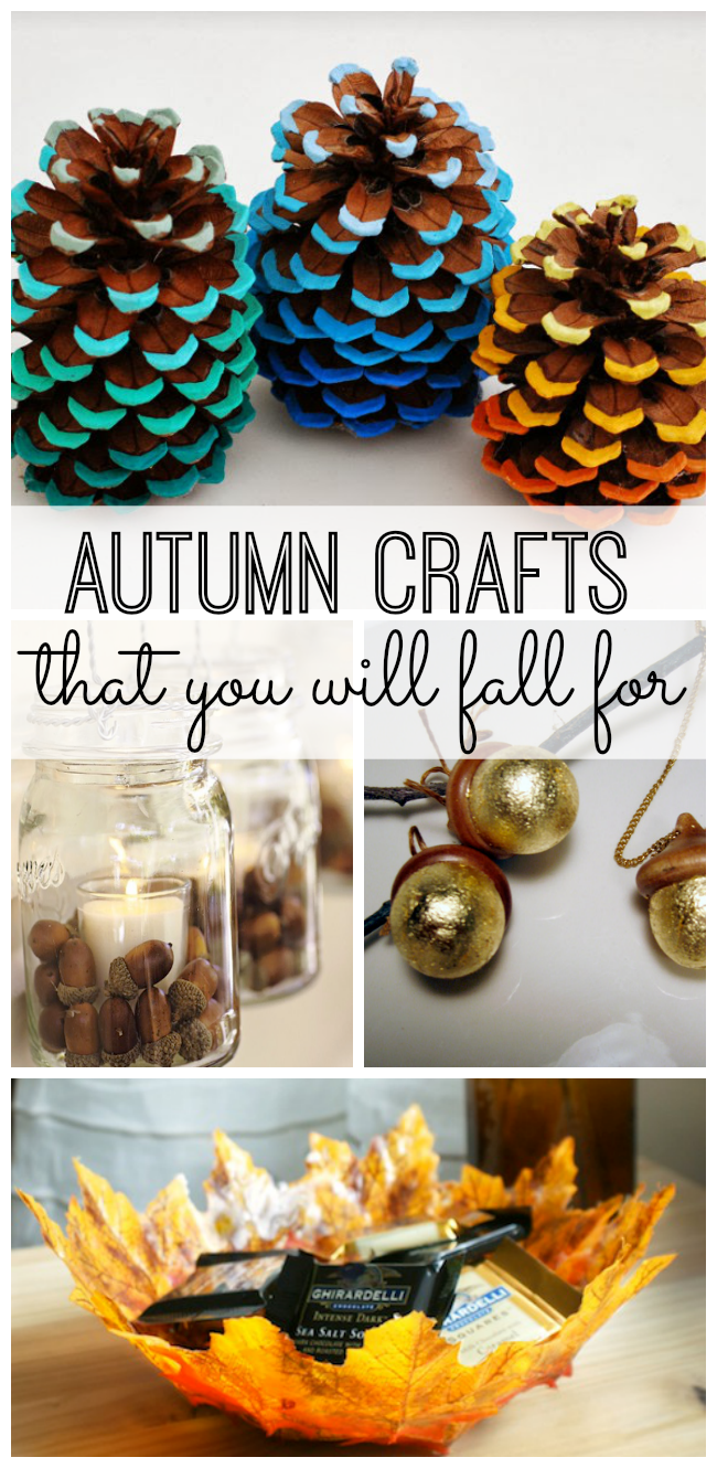 Autumn crafts that you will fall for my life and kids for Fall diy crafts pinterest