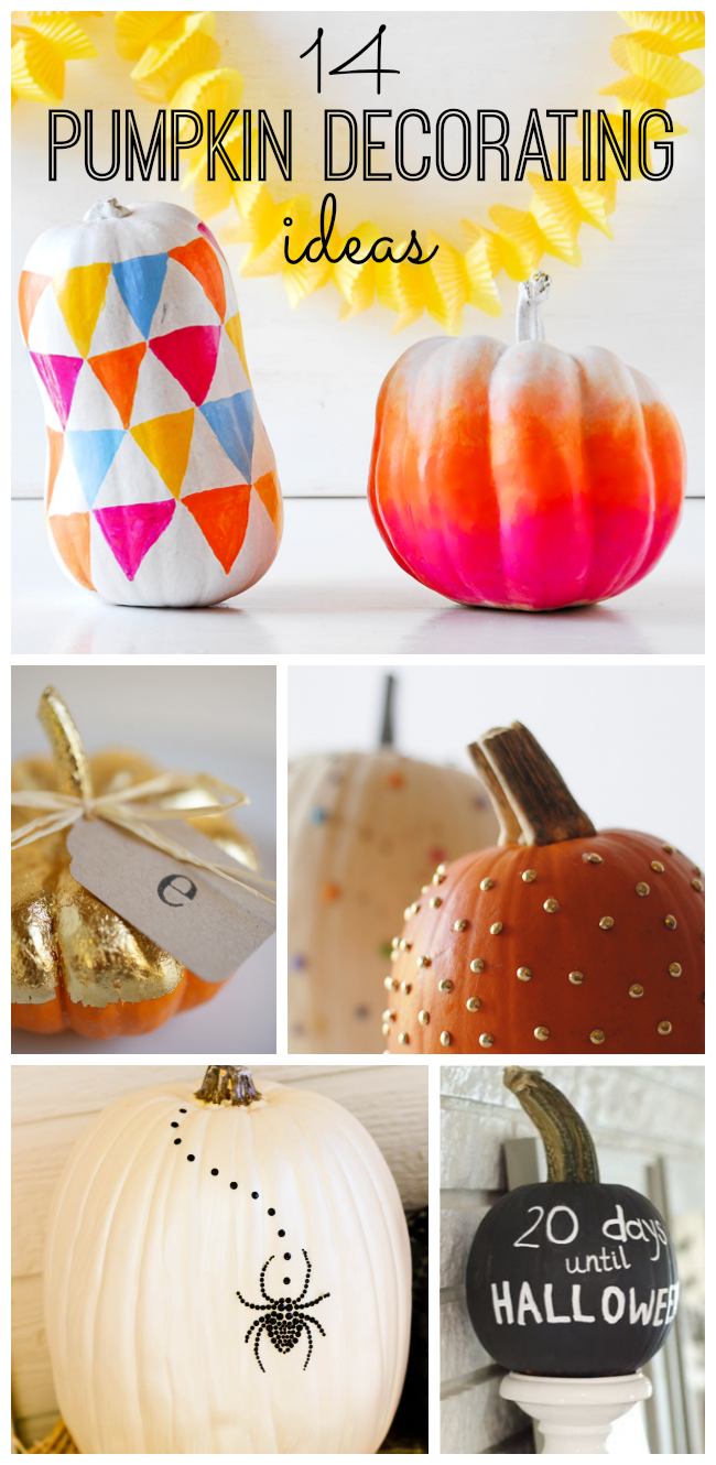 Looking for alternatives to carving pumpkins this Halloween? We've rounded up 14 fun DIY pumpkin decorating ideas!