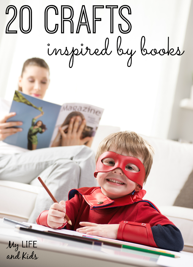Bring your child's favorite books to life with these 20 crafts inspired by books!