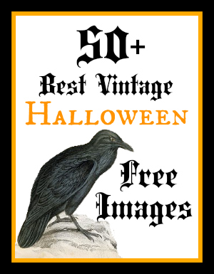 50 Best Vintage Halloween Images By The Graphics Fairy