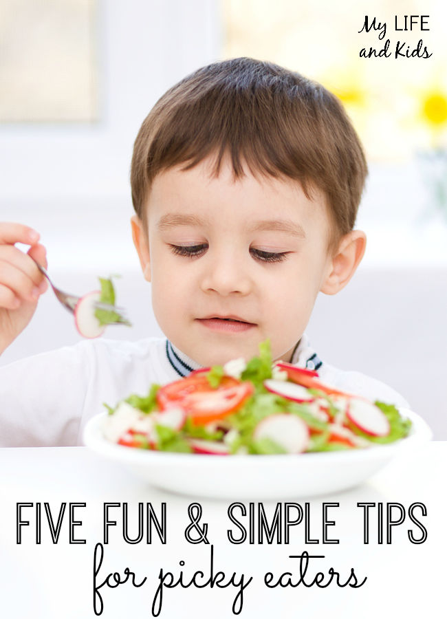 You will love these five fun and simple tips for picky eaters! I'm definitely implementing #1 in our family!