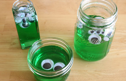 Green Blob in a Bottle