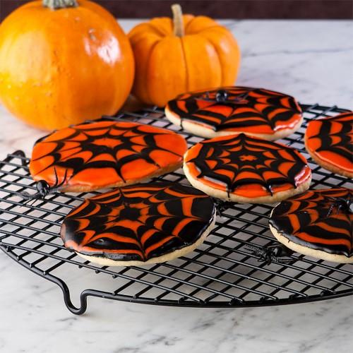 Halloween Half Moon & Spooky Spiders
