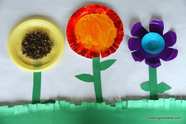 Paper Plate Flower Garden & Paper Plate Crafts for Preschoolers