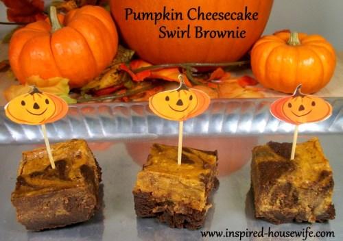 Pumpkin Cheesecake Swirl Brownie