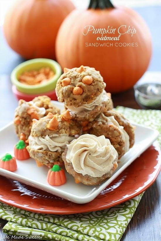 Pumpkin Chip Sandwich Cookies