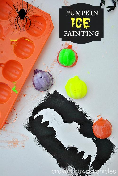Pumpkin Ice Painting