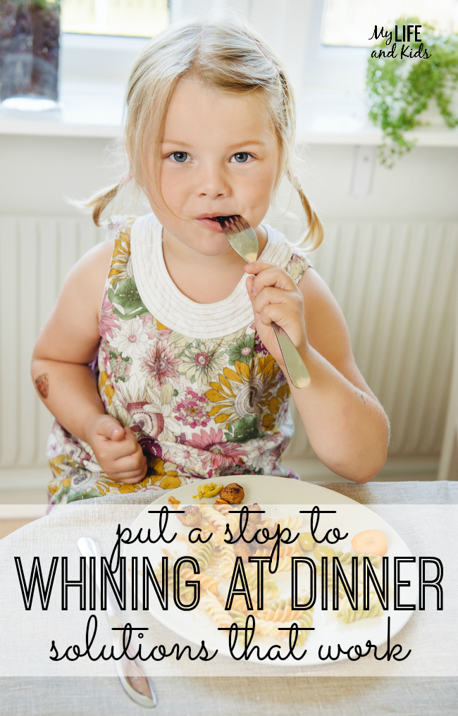 Five great tips to get your kids eating their dinner without any whining. #4 especially works for us!