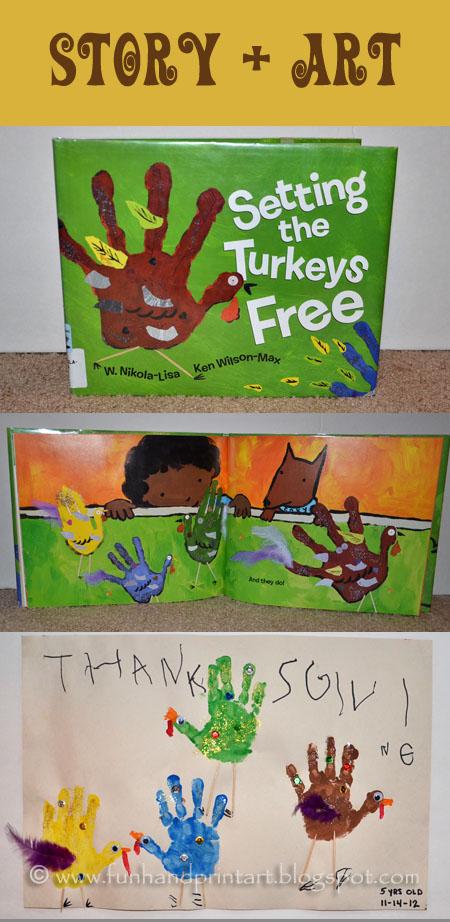 Setting the Turkeys Free Book & Craft