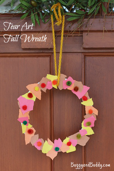 Tear Art Fall Wreath