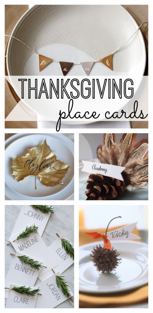 Dress up your Thanksgiving table with fun DIY place cards perfect for the season.