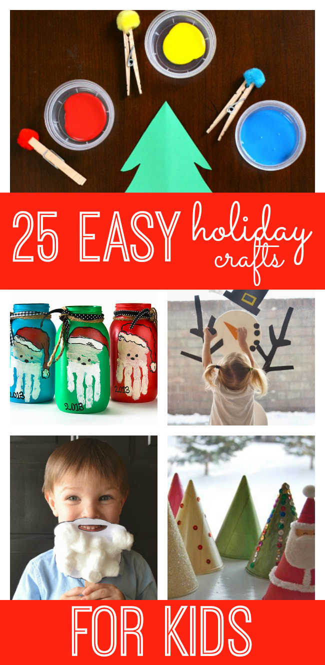 Looking for a fun and unique way to countdown to the holidays? Why not try a crafty holiday countdown with these 25 easy holiday crafts!