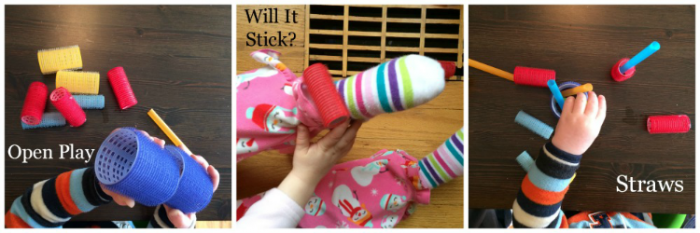 Activities with Velcro Rollers