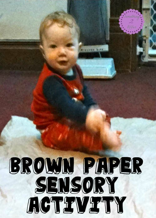 Brown Paper Sensory Activity