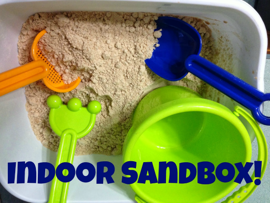 Indoor Sandbox Sensory Bin