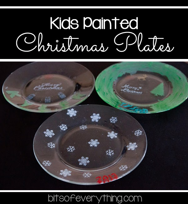 Kids Painted Christmas Plates