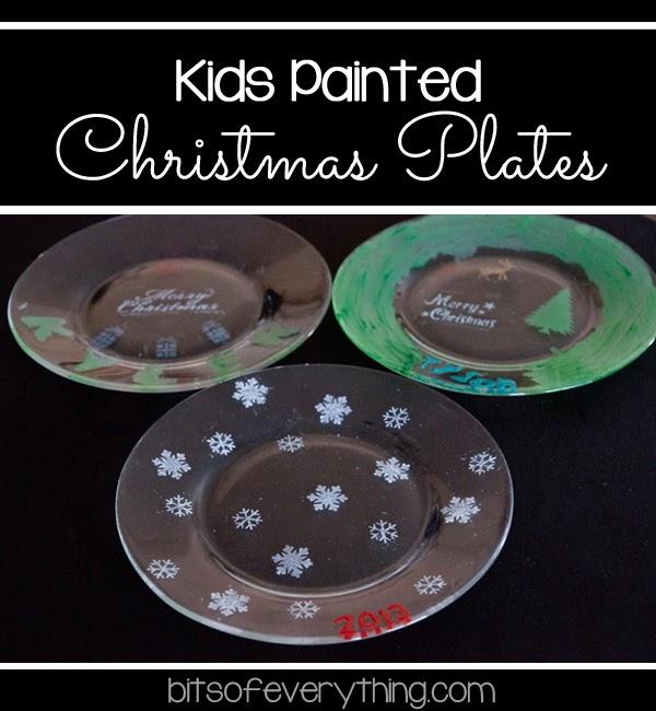 Kids Painted Christmas Plates