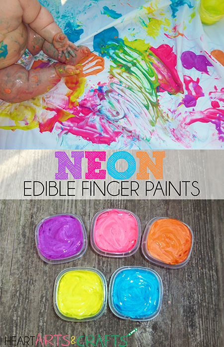Neon Edible Finger Paints