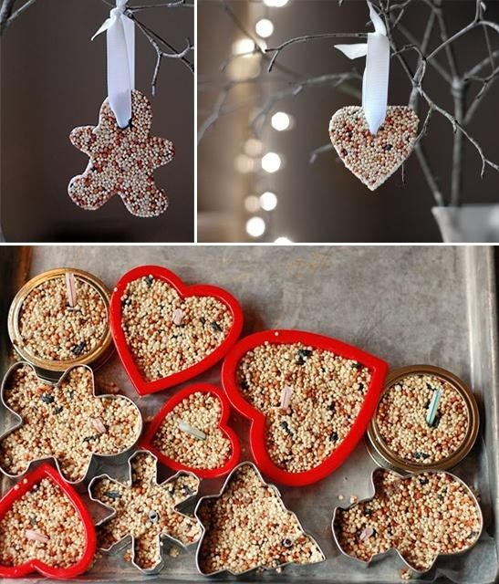 No Cook Birdseed Ornaments