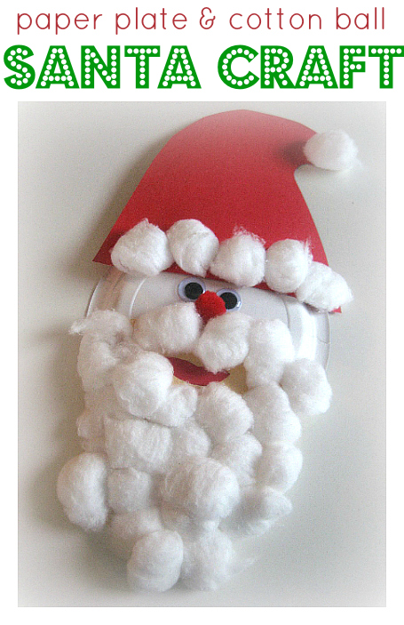 Paper Plate & Cotton Ball Santa Craft
