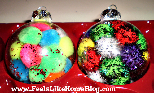 Pom Pom Stuffed Ornament