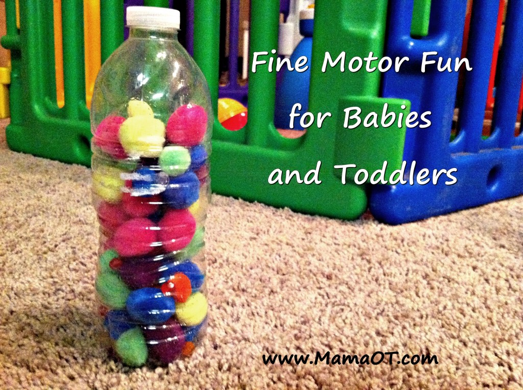 Pom Poms & Water Bottle Activity