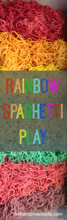 Rainbow Spaghetti Play