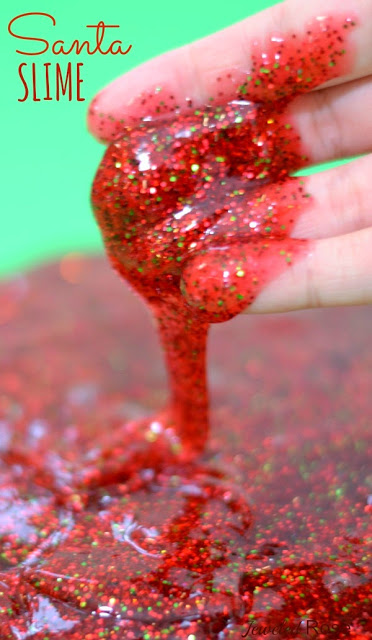 Messy Glitter Christmas Decorations