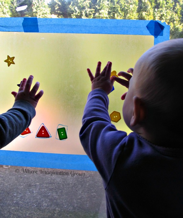 Sticky Window Baby Games with Buttons