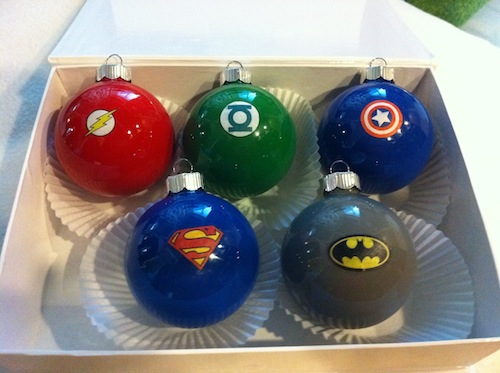 Super Hero Ornaments