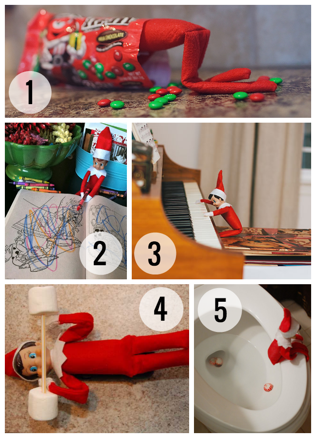 Elf on the Shelf Ideas. Repin This Here. Elf on the Shelf Ideas. Just click the number below to change the pages and see them all.