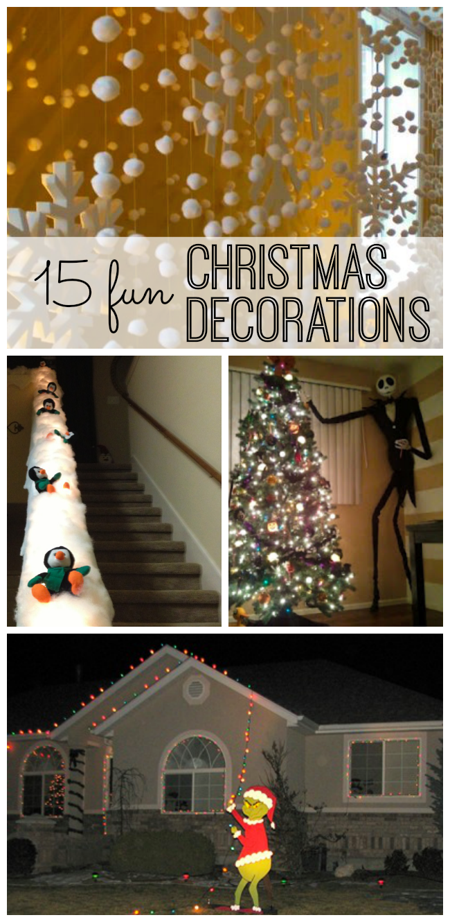 15 fun Christmas decorations. Your season is sure to be sparkly and bright with these great ideas to decorate your house - or get ready for your next Christmas party.