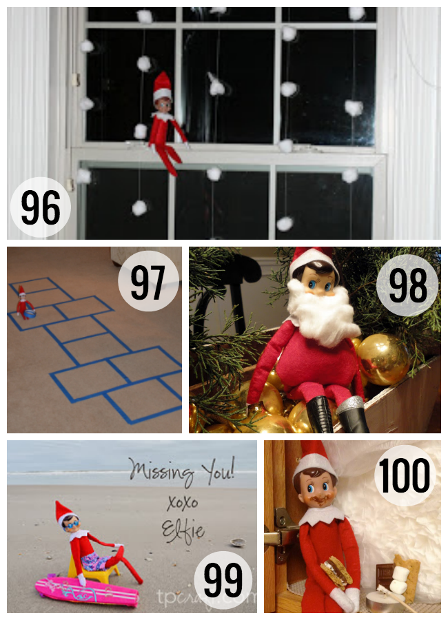 100 Elf on the Shelf ideas from quick & easy to crafty & committed.