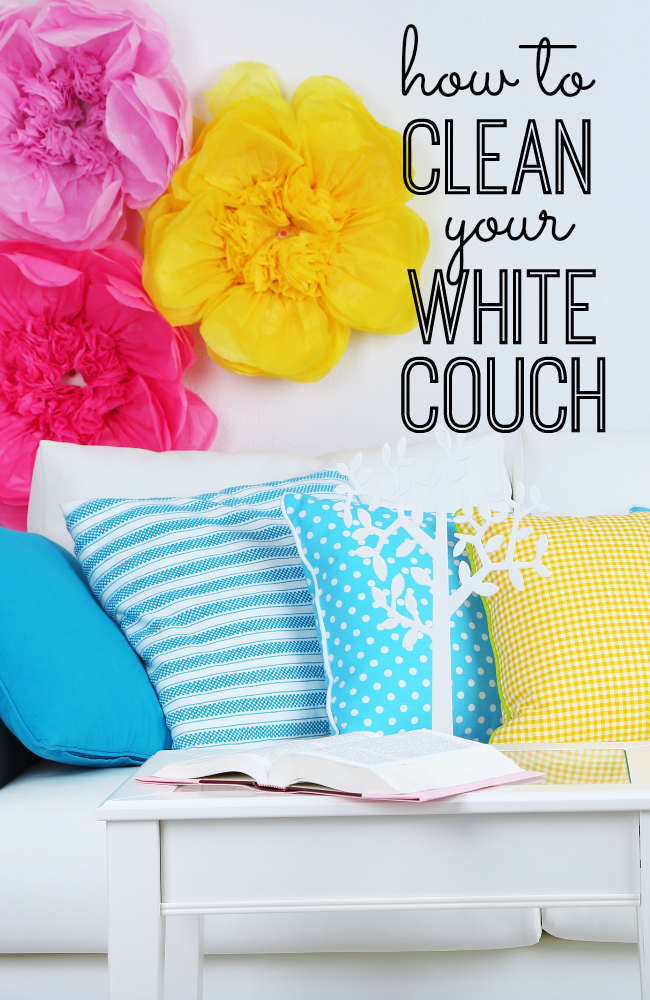 How to keep your white slipcovered Sofa pretty & clean with kids & pets. Have kids? You can still have a white couch and love it! I'm sharing my top secret tip to keep that white couch clean - even with kids and dogs!