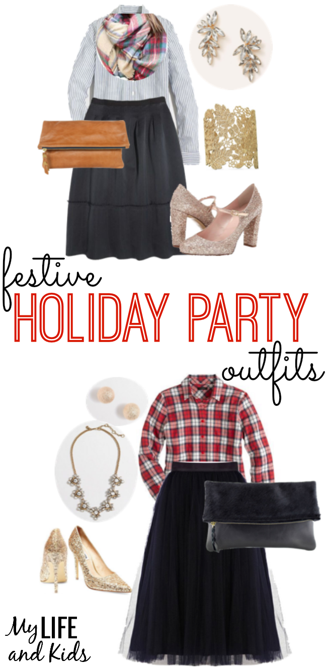 Looking for apparel to don this holiday season? We have two versatile and festive holiday party outfit ideas for you!