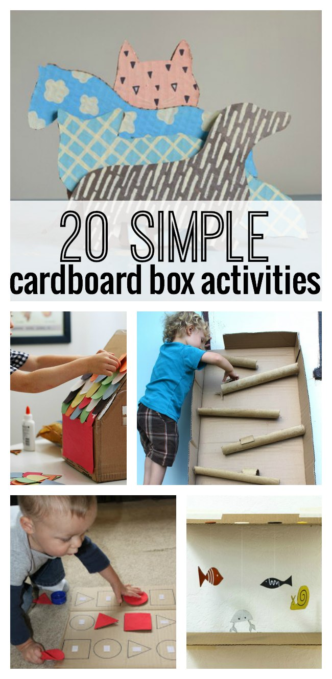 Cardboard Boxes Activities For Kids