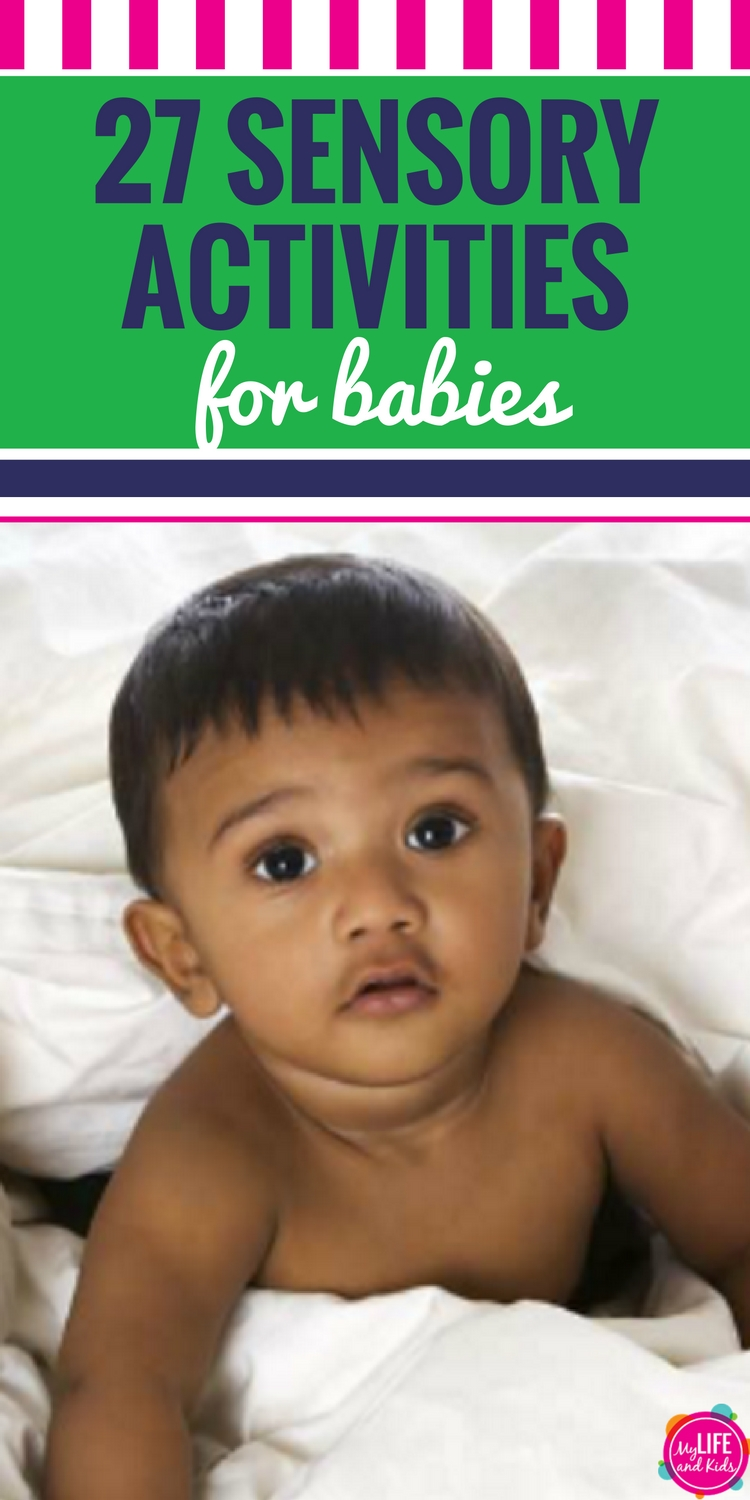 These DIY and homemade sensory activities for babies (infants, 6 months and 1 year olds) will help your child master tummy time and develop gross motor skills.