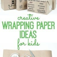Make wrapping paper as much fun as the present itself. Kids will love these clever DIY wrapping paper ideas. Such a fun way to give Christmas and holiday gifts.