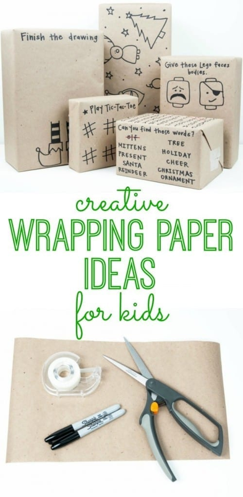 Make wrapping paper as much fun as the present itself! Kids will love these clever ideas.