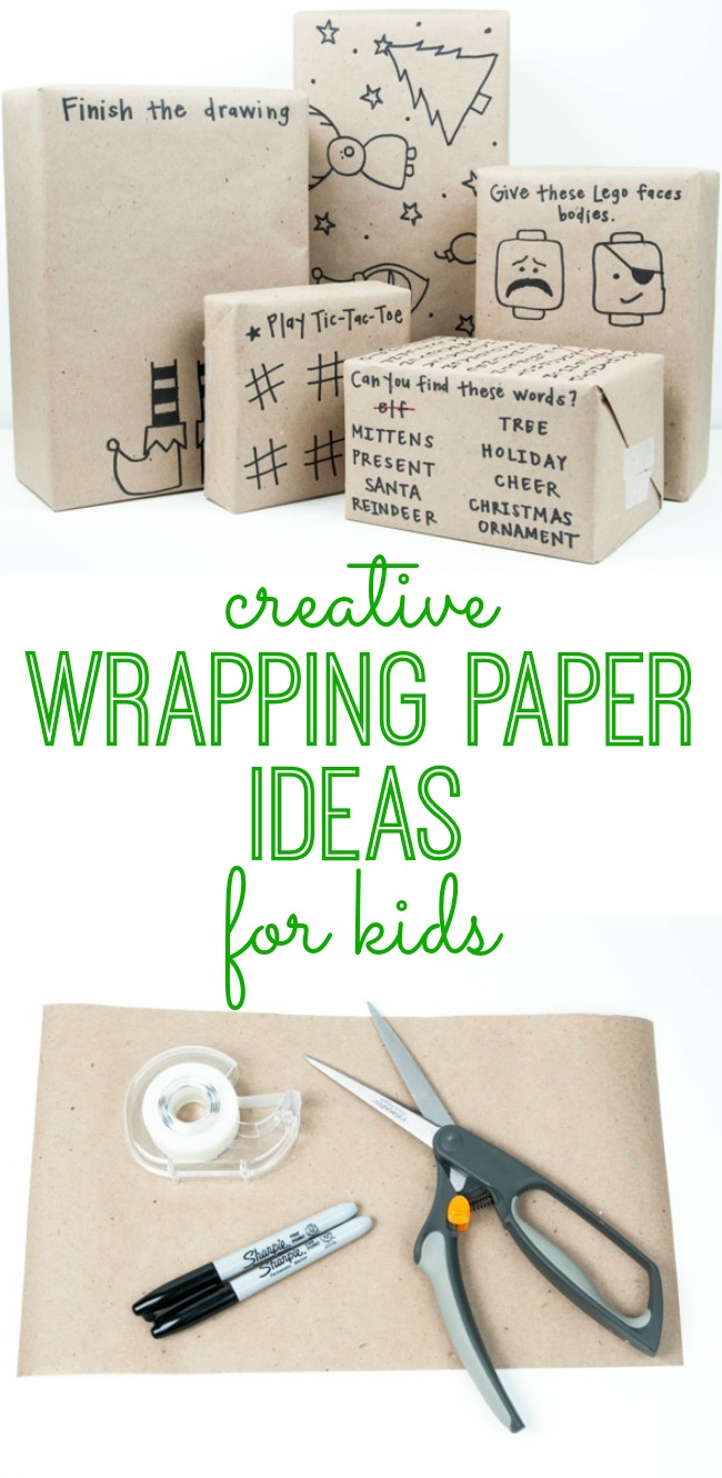 Creative Wrapping Paper Ideas For Kids My Life And Kids