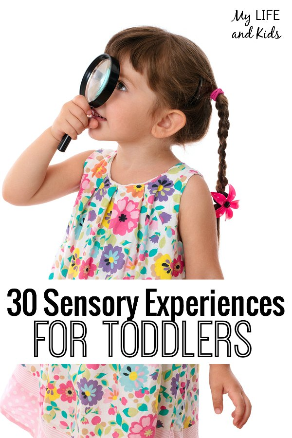 30 sensory experiences for toddlers! #11 is so simple and so fun!