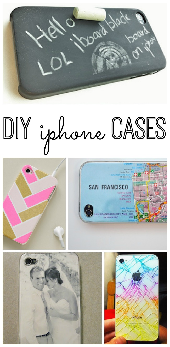 DIY iPhone cases. If you're on a quest for the perfect iPhone case or just feeling crafty, make one for yourself or to give as a gift. From washi tape to chalkboard paint, we've rounded up the best ideas so you can turn your iPhone into art.