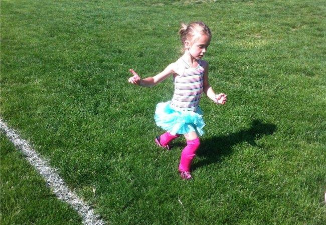 Running at Soccer
