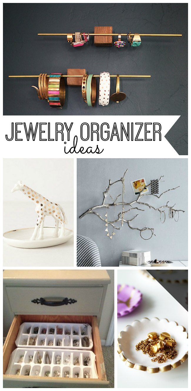 No more tangled necklaces and missing earrings with these 15 stylish jewelry organizers. Great DIY organization ideas for your jewelry collection.