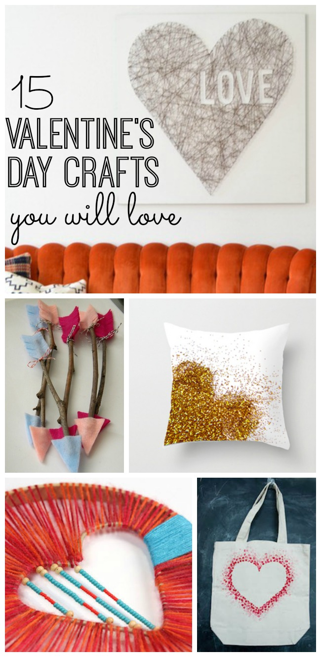 Warm up your home and heart with these 15 lovable Valentine's Day Crafts. Great DIY and craft activities to do with your friends or your family. Love these!