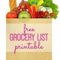 Free printable. This grocery list printable template makes for a smoother trip to the grocery store, especially if you're bringing your kids.