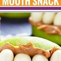 Looking to make snack time a little more fun? Your kids will LOVE these monster mouth snacks. So simple and sure to make your kids smile at Halloween or any time of year.