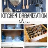 Organize your kitchen with these GREAT DIY organization ideas. Whether your kitchen is tiny or large, you'll love these smart organization space solutions.