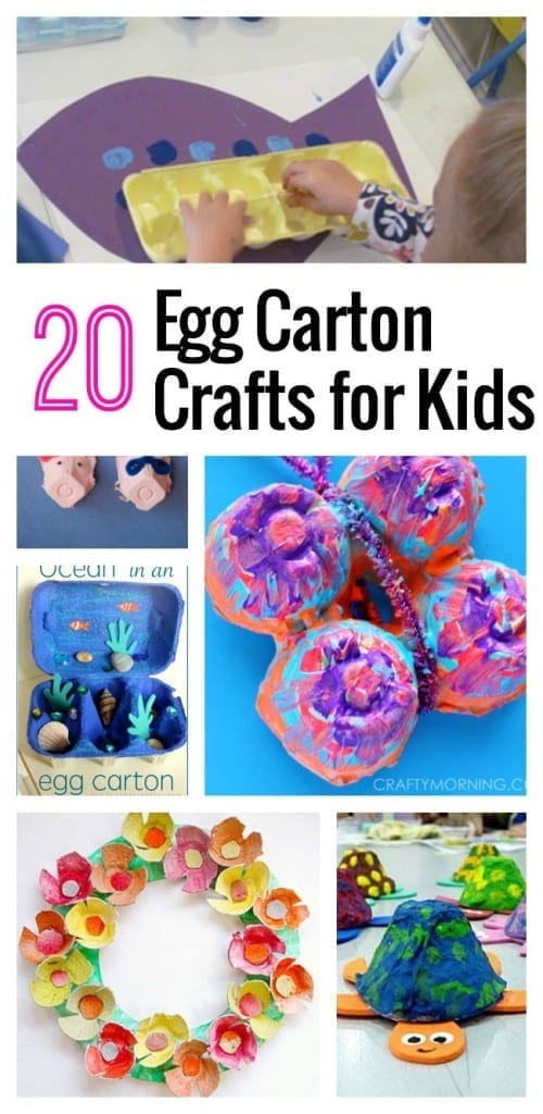 Enjoy these 20 Egg Carton Crafts for Kids! #9 is my favorite!